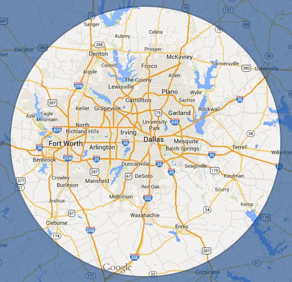 Arigold Electric & Construction Inc. Service Area Map